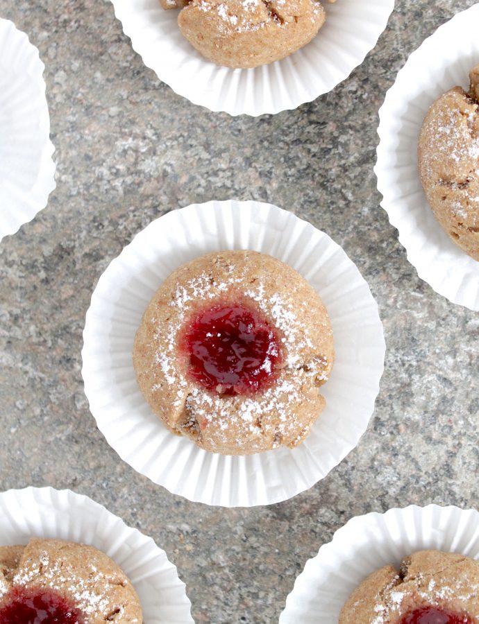 Sugar-free Vegan Thumbprint Cookies