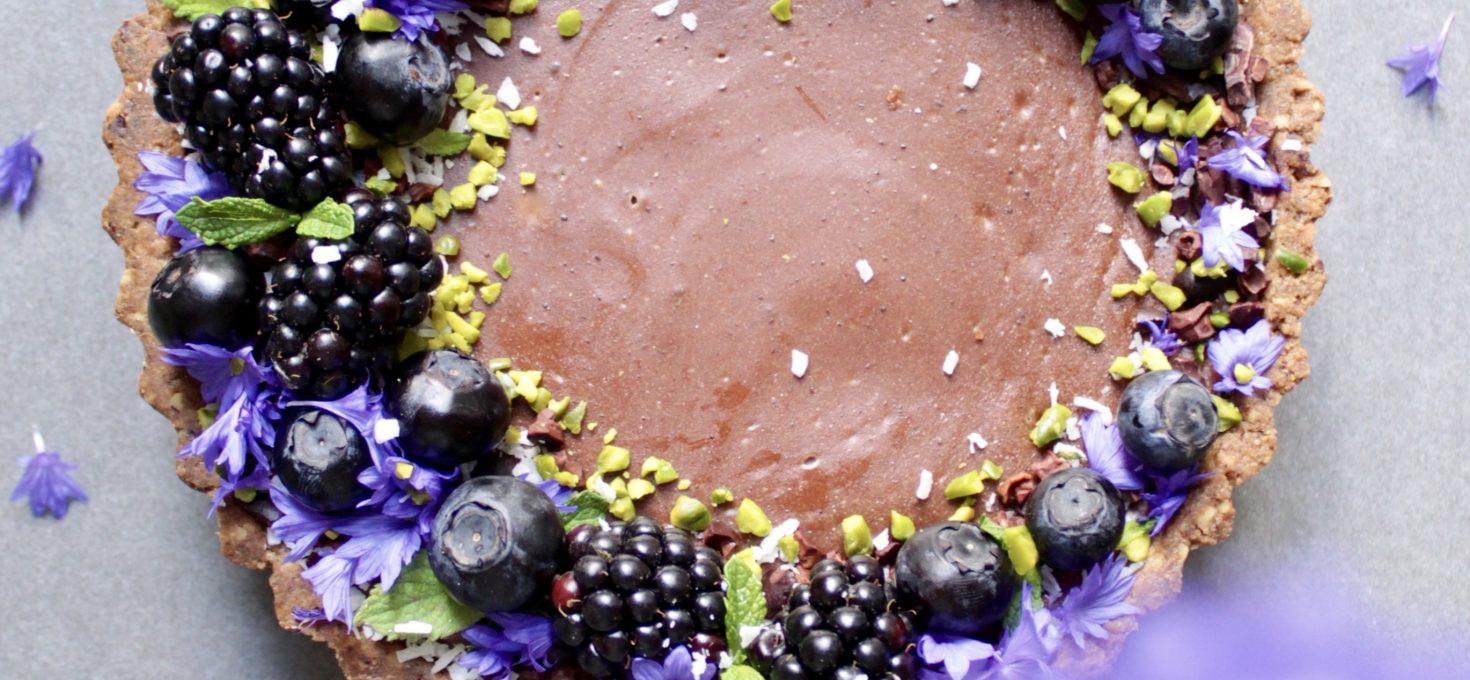 Zuckerfreie Schoko-Beeren Tarte