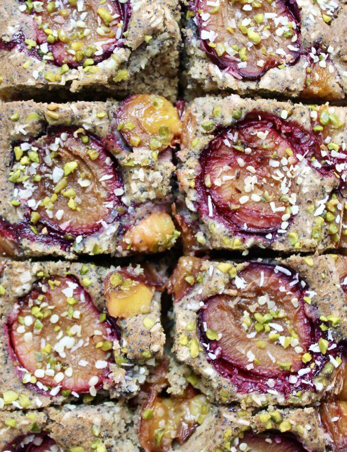 Zuckerfreier Zwetschgen-Mohn- Kuchen