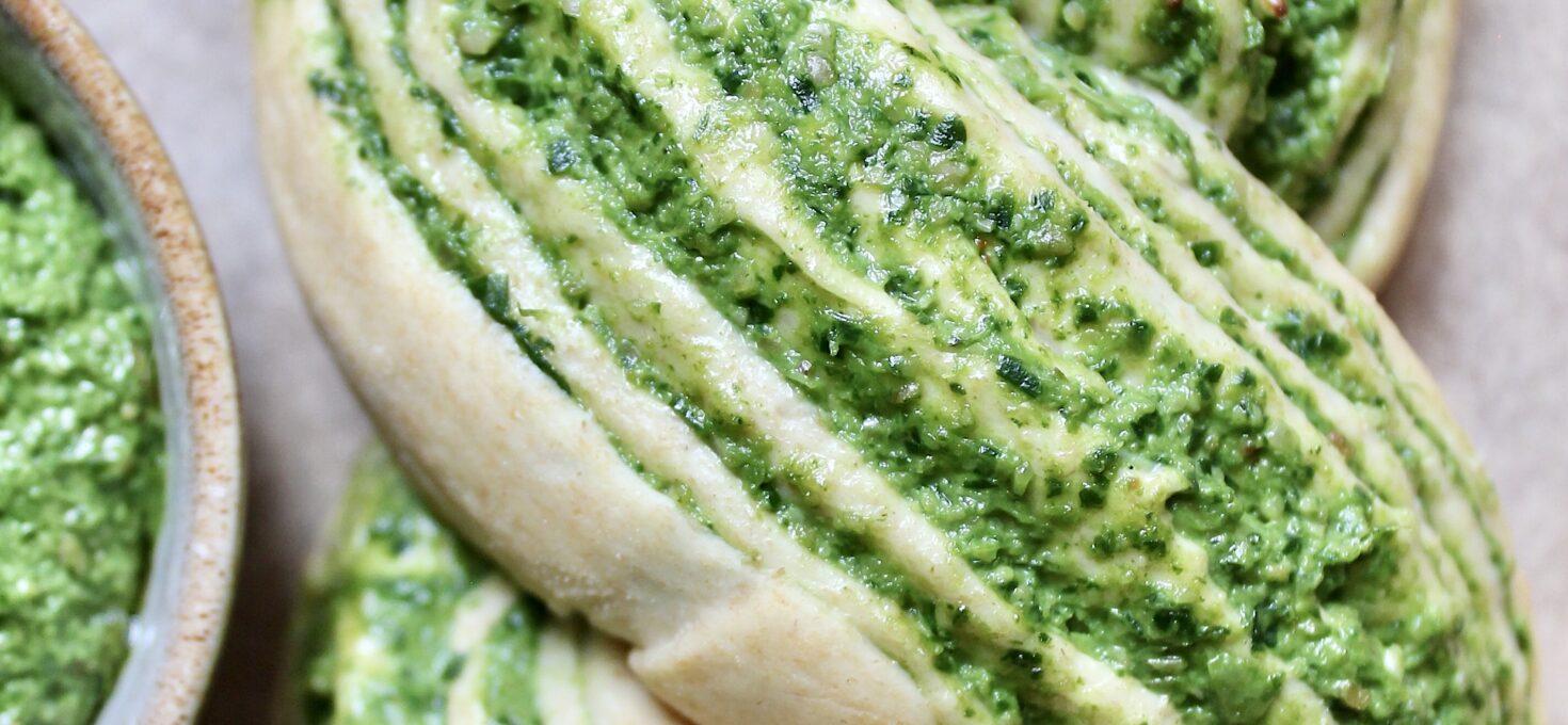 Veganes Pesto Babka